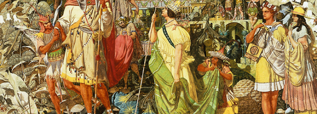 Richard Dadd : Contradiction détail la reine Titiana