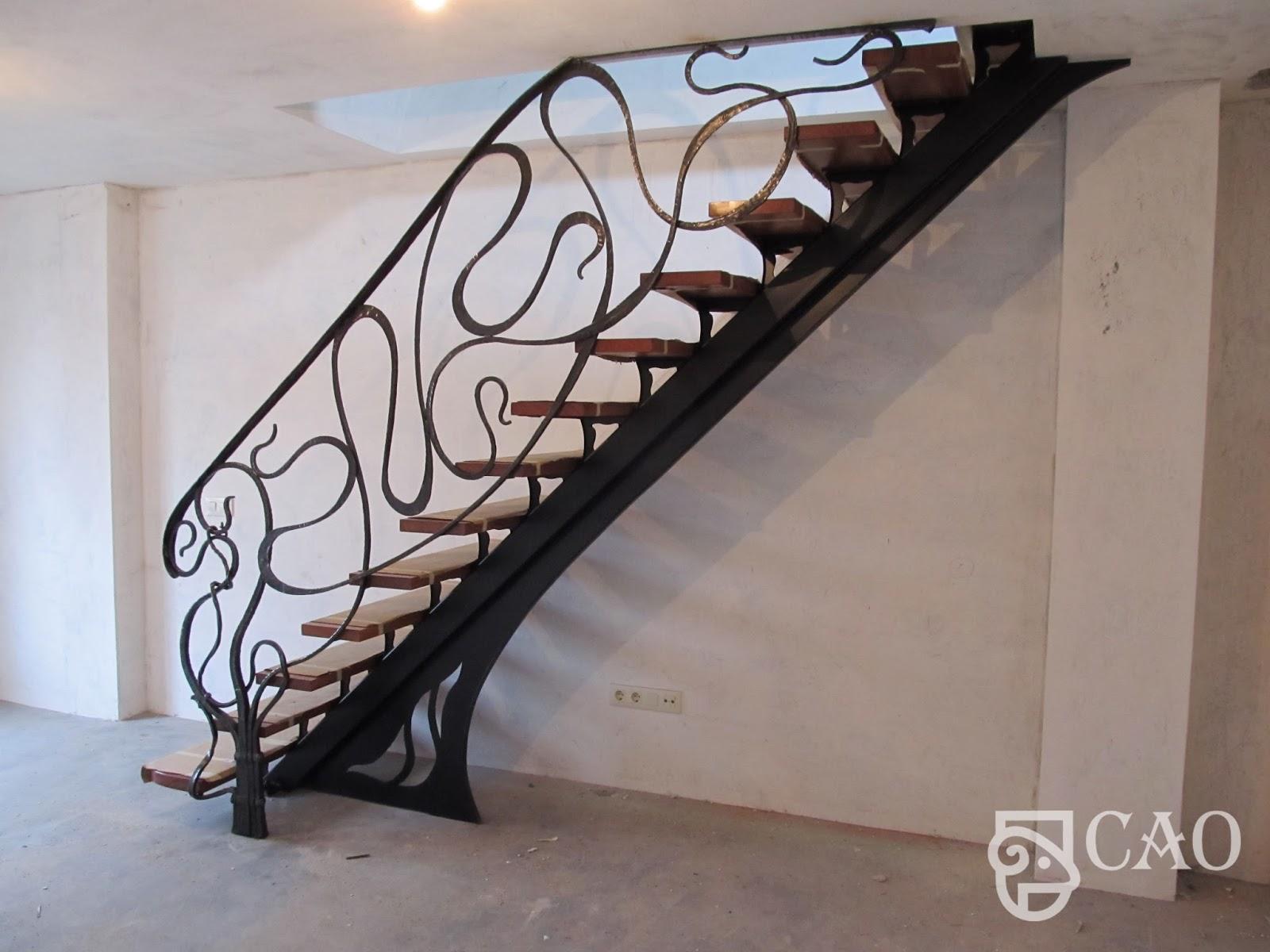 Ideas Para Decorar Barandillas De Hierro Forjado Para Tus Escaleras - Barandillas-para-escaleras-interiores
