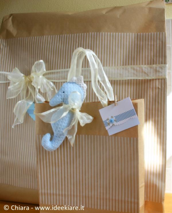 Confezione regalo chic per battesimo