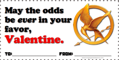 Hunger Games Valentines - Odds in Your Favor - Free Download www.hungergameslessons.com