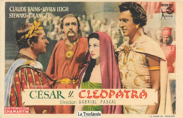 César y Cleopatra - Programa de Cine - Claude Rains - Vivien Leigh - Stewart Granger