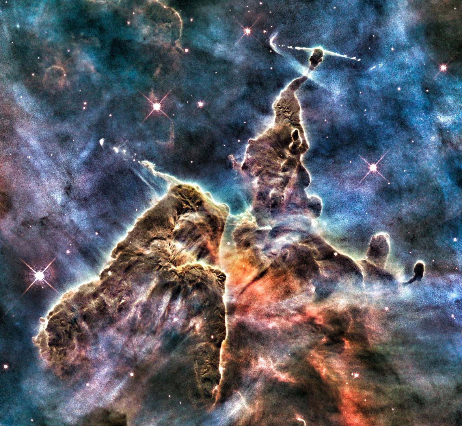 Mystic Mountain (region in the Carina Nebula) | Earth Blog