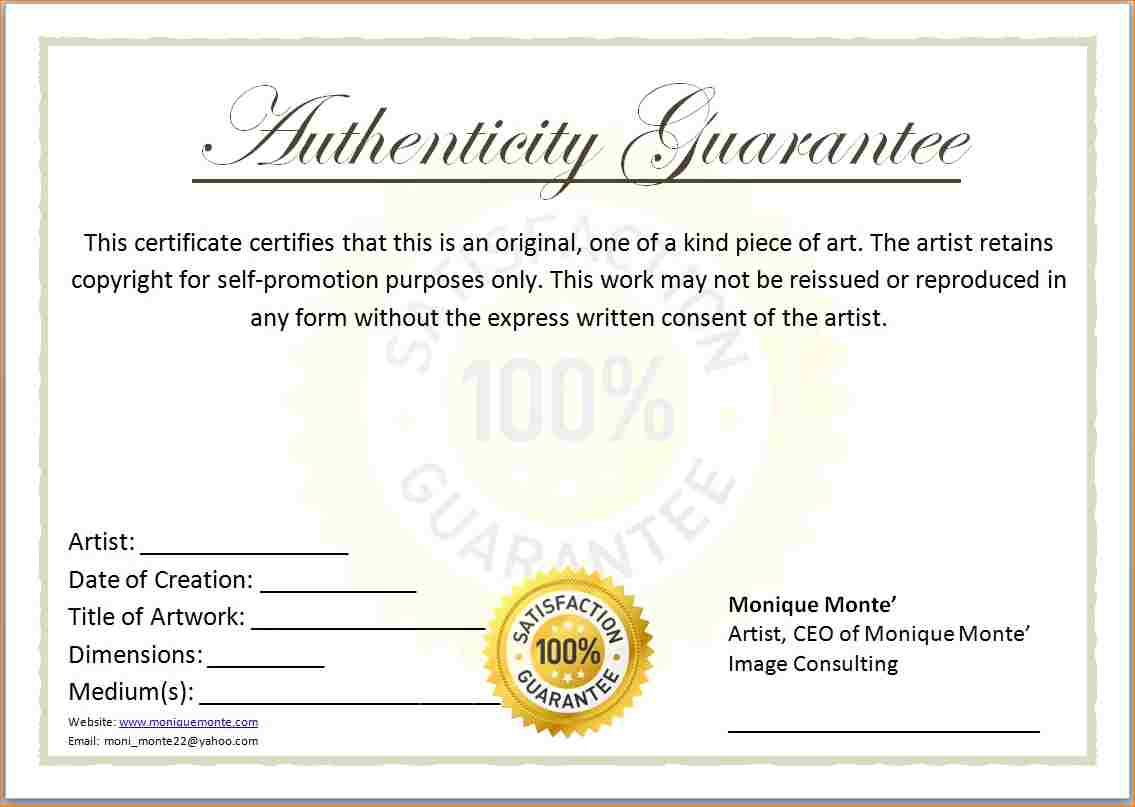 Blank certificates of authenticity templates d templates blank certificates of authenticity templates yadclub Images