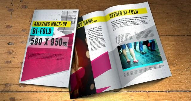 Tri Fold Brochure Mock-Up Template PSD