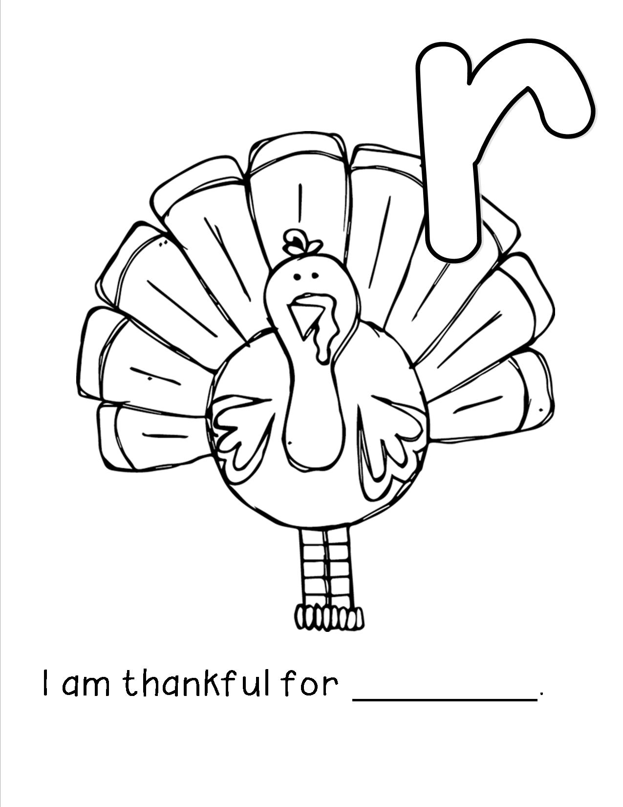 PZ C: turkey coloring pages