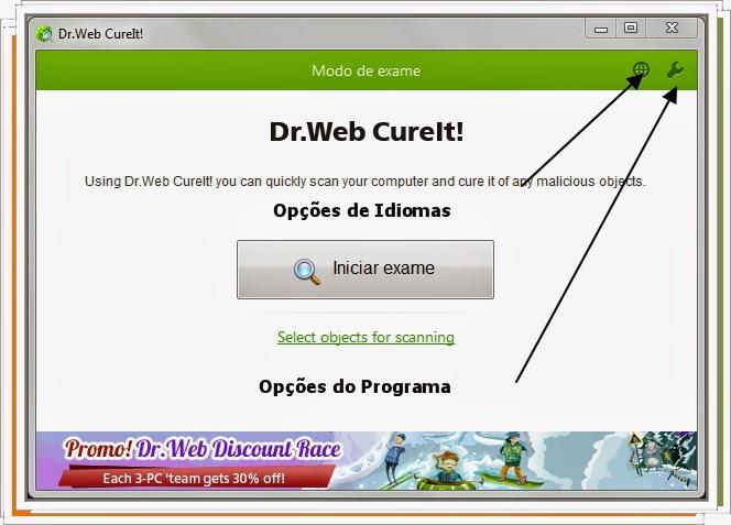 Dr. Web Cureit a melhor opção