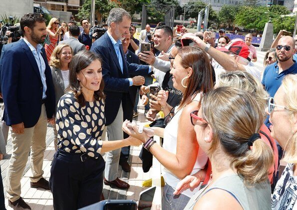 King Felipe and Queen Letizia visited Gran Canaria to view the areas affected by August's forest fires