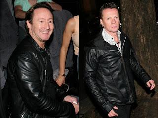 Bono, Edge y Larry en la fiesta de cumpleaños de Julian Lennon 1