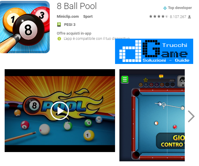 Trucchi 8 Ball Pool Mod Apk Android v1.1.0