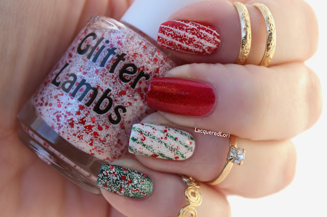 "Glitter Lambs ""Don't Touch My Candy Cane Milkshake"" Nail Polish worn by @LacqueredLori"