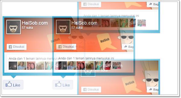 Cara membuat Facebook page like button efek tooltip