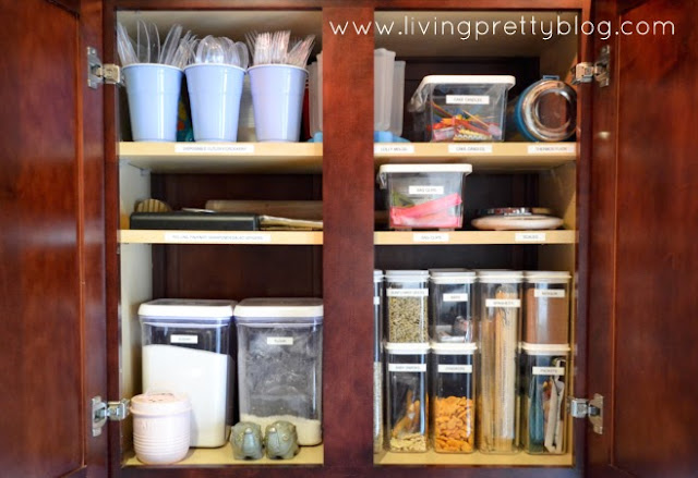 Organised kitchen cabinet - after