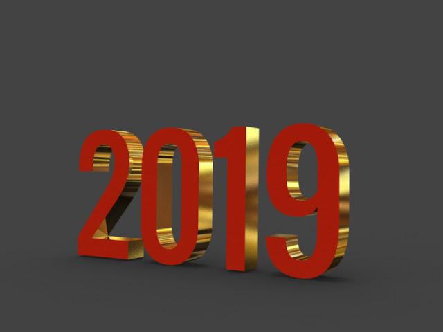 幸せな新年2019 3DのHD画像