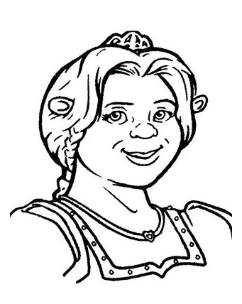 Free Coloring Pages 4 Free Princess Fiona Shrek Coloring Pages