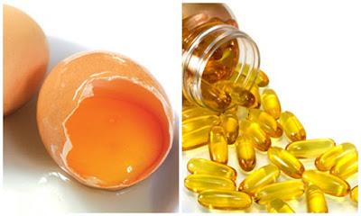 vitamin E và lòng đỏ trứng gà