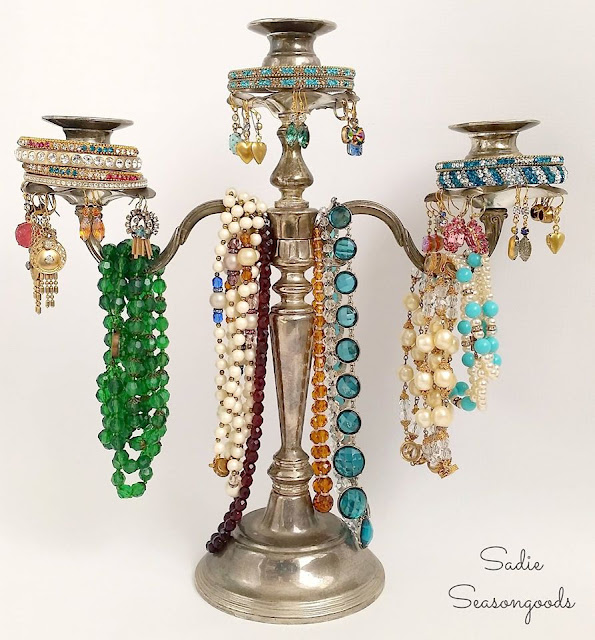 candelabra jewelry tree