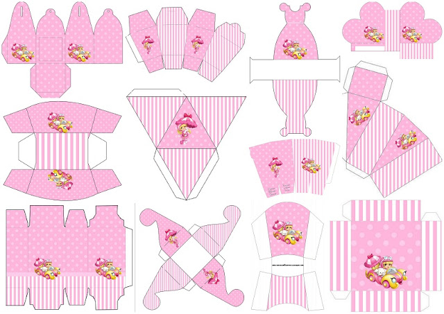 Penelope Pitstop Baby: Free Printable Boxes.