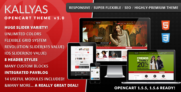 themeforest opencart template