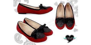 Model sepatu flat Cattelyaa Glitter