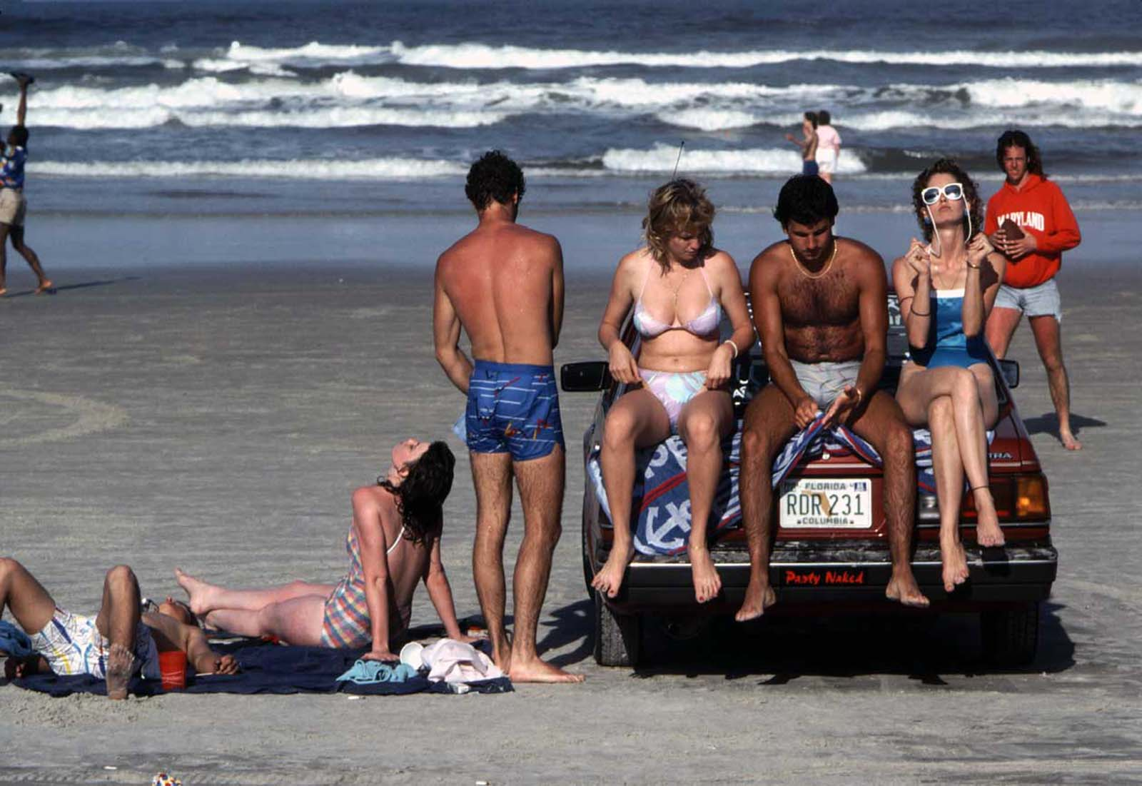On the trunk at Daytona. 1986.