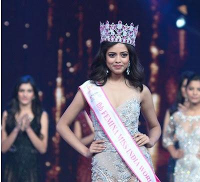 Femina Miss India 2016 Priyadarshini Chatarjee Miss Inida World 2016