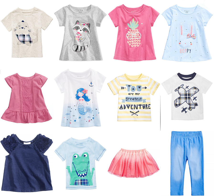 10fe4bac87d Macys  70-80% Off First Impressions Baby Clothings!  2.56 Tops ...