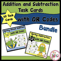 Spring QR Codes Addition and Subtraction