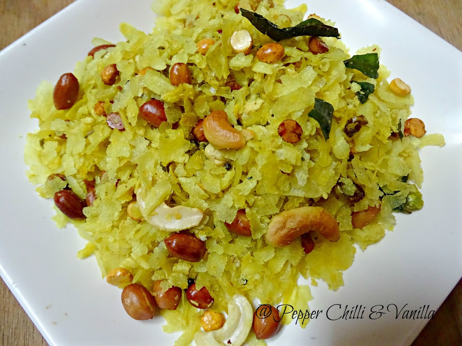 less oil poha chivda recipe