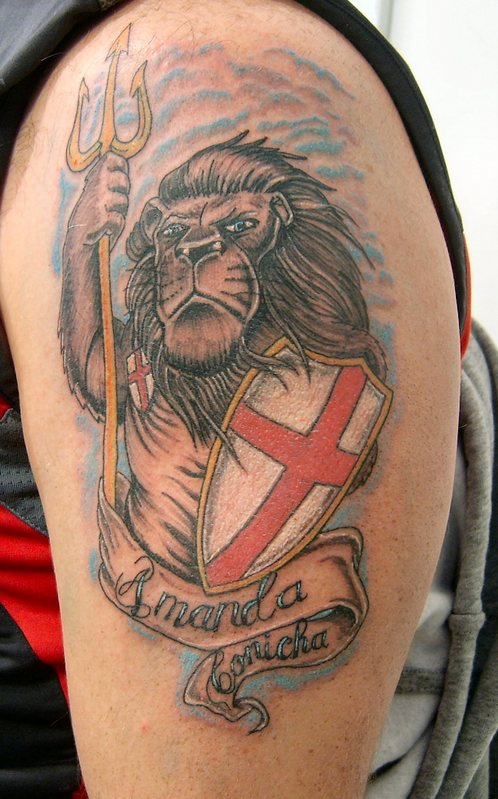 England Sleeve Tattoo Designs