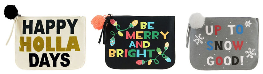 Twig + Arrow Verbiage Canvas Pouch $10 (reg $20) - great stocking stuffers!