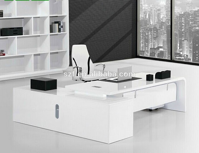 best buy executive white melamine office furniture sets for sale