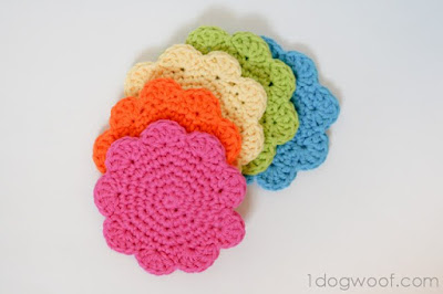flower coaster pattern