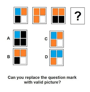 Non Verbal Brain Teaser to find next pattern
