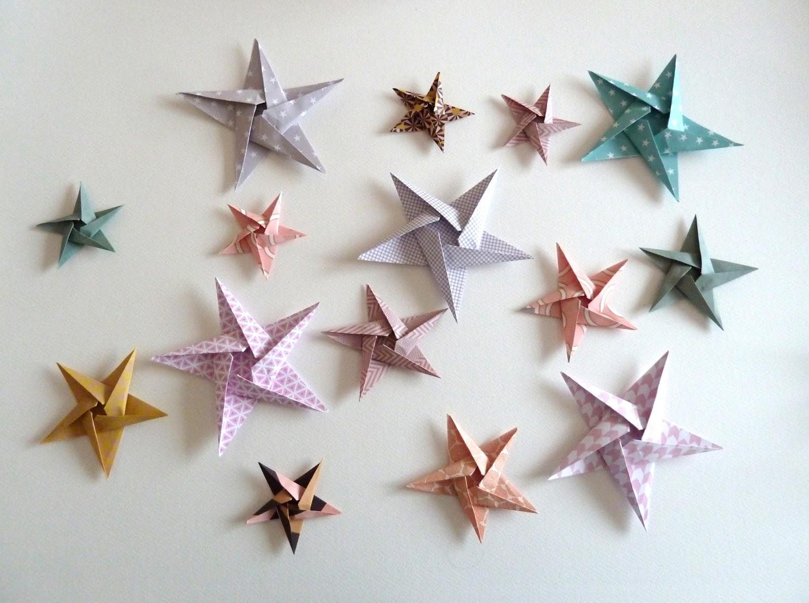 origami events tutoriel diy etoiles en