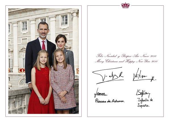King Felipe, Queen Letizia, their children, Princess Leonor, Infanta Sofía, King Juan Carlos and Queen Sofía.
