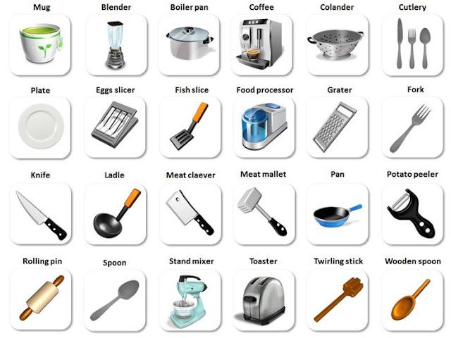 Utensilios de cocina kitchen utensils aprendo ingl s - Instrumentos de cocina ...