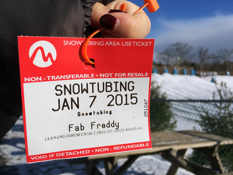 Camelback Mountain Resort, snowtubing ticket