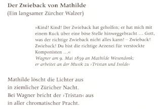Bernstein, F. W.: Der Zwieback von Mathilde. Ein langsamer Zürcher Walzer. In: Bernstein, F. W.: Richard Wagners Fahrt ins Glück. Sein Leben in Bildern und Versen