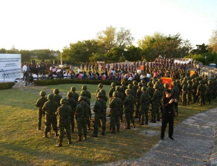 Honran la memoria de los militares caídos en Culiacán