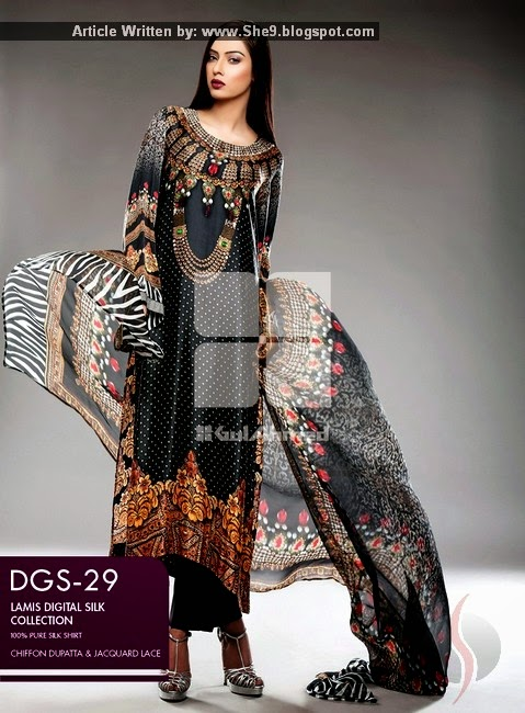 Gul Ahmed Silk Dress with Prices