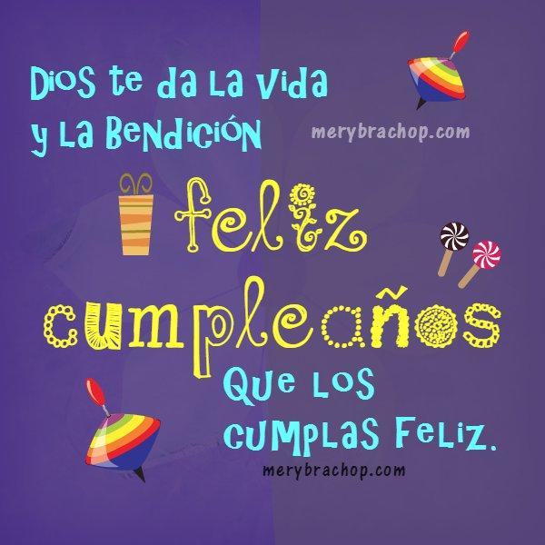 Imágenes con frases de cumpleaños para niños, saludos con bonitos mensajes de cumple, por Mery Bracho