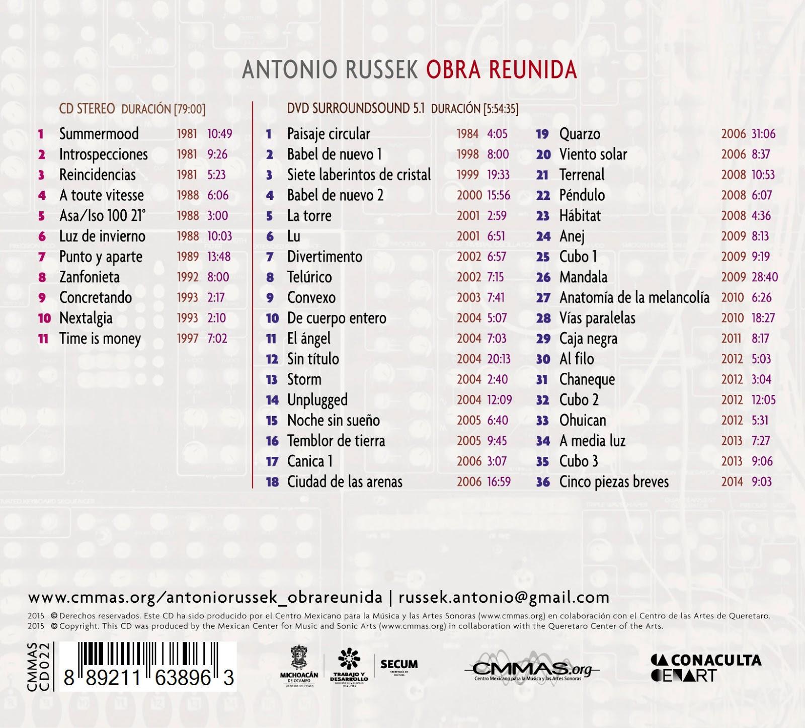 Cabeza de Moog !: Antonio Russek - Obra Reunida (CD - DVD - 2014)
