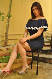 Actress Aditi Singh Pictures in Black Short Dress at tur Talkies 2 Movie Opening  0152