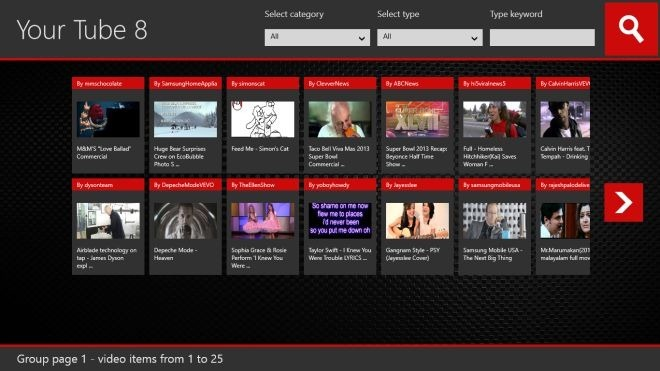 By Default The App Displays Videos Of All Categories And Types On The Main Interface Each Video Is Listed With A Thumbnail Name Of The Uploader