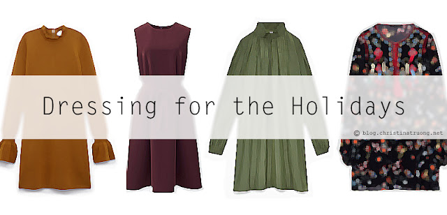 Dressing for the Holidays in Dresses from Aritzia Wilfred, Uniqlo, and Zara