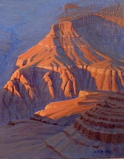 Grand Canyon painting, original oil, sunset , Southwest landscape