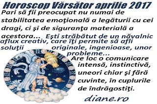 Horoscop aprilie 2017 Vărsător