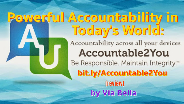 Powerful Accountability in Today's World: Accountable2You, accountability, device monitoring, email monitoring, accountable2you review, product review, Via Bella, responsibility, online safety, phone safety, kids safety, family accountability, Hashtags:  #hsreviews #internetaccountability #internetsafety  SEO Keywords: internet accountability, internet monitoring, internet accountable software, internet safety,Accountability across all your devices {Accountable2You}