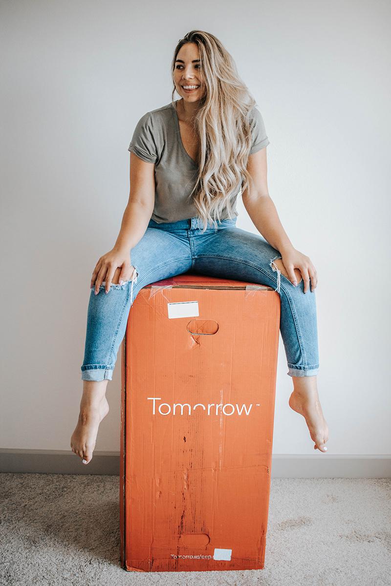 Tomorrow mattress delivered in a box, mattress delivery, foam mattress