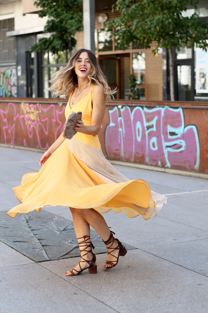 yellow and beige